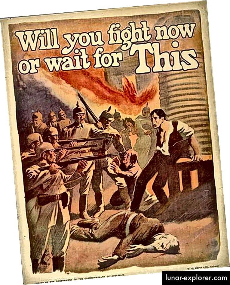 الحرب العالمية الأولى ملصق الدعاية