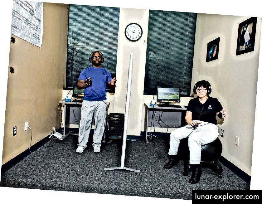 Greg Ortman und seine Mutter Kate, Gründer und CEO von Brain Training in Maryland. Foto: Justin Tsucalas