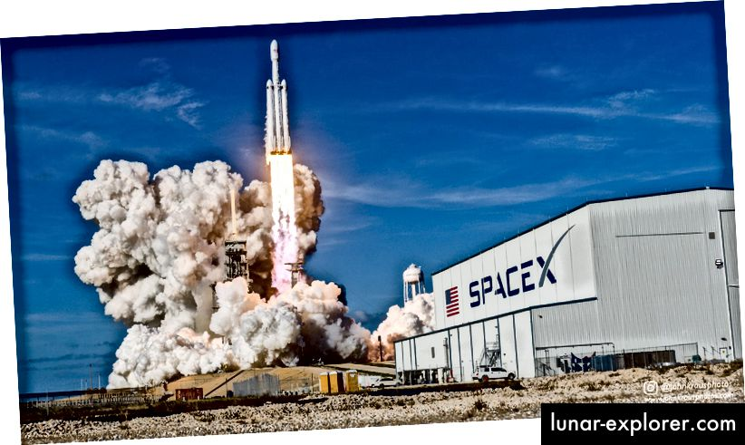 Falcon Heavy-Start von SpaceX. Quelle: John Kraus.
