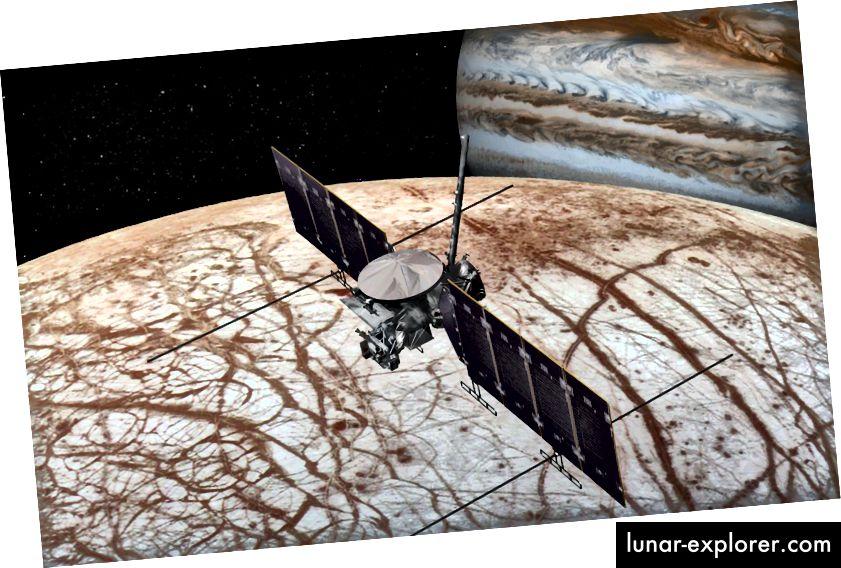 تقديم فنانين لمهمة ناسا المرتقبة Europa Clipper التي يمر بها قمر كوكب المشتري يوروبا. المصدر: ناسا