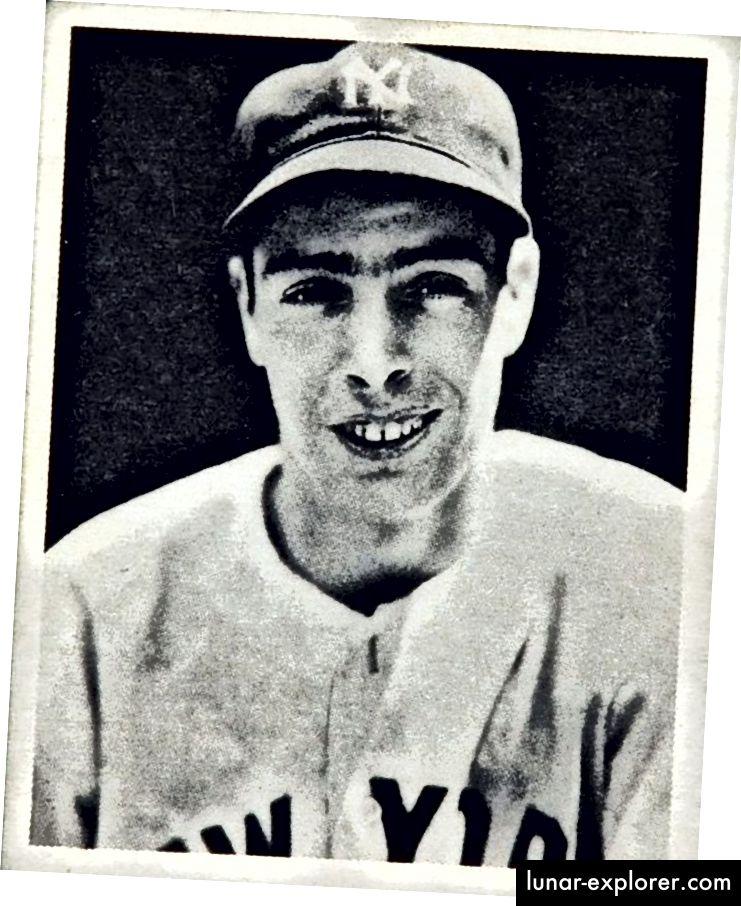 Joe DiMaggio im Jahr 1939. Herausgegeben von Bowman Gum für Play Ball Cards.
