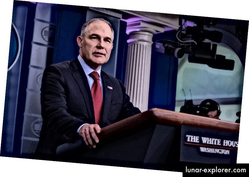 Administrator der Umweltschutzbehörde Scott Pruitt. Foto: Cheriss May / NurPhoto über Getty Images