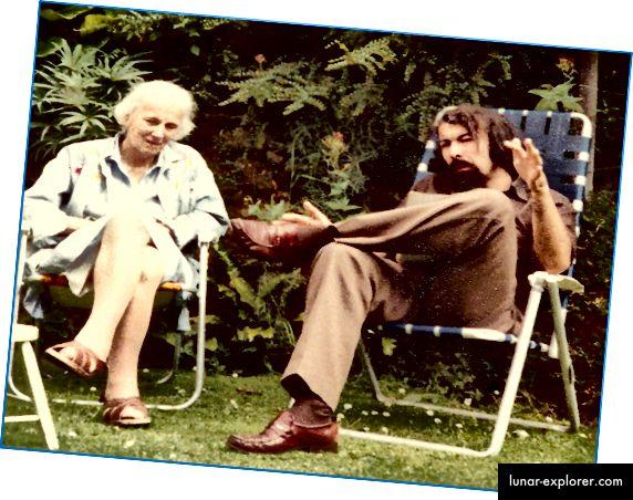 Dorothy Hodgkin und Tom Blundell in den 1970er Jahren