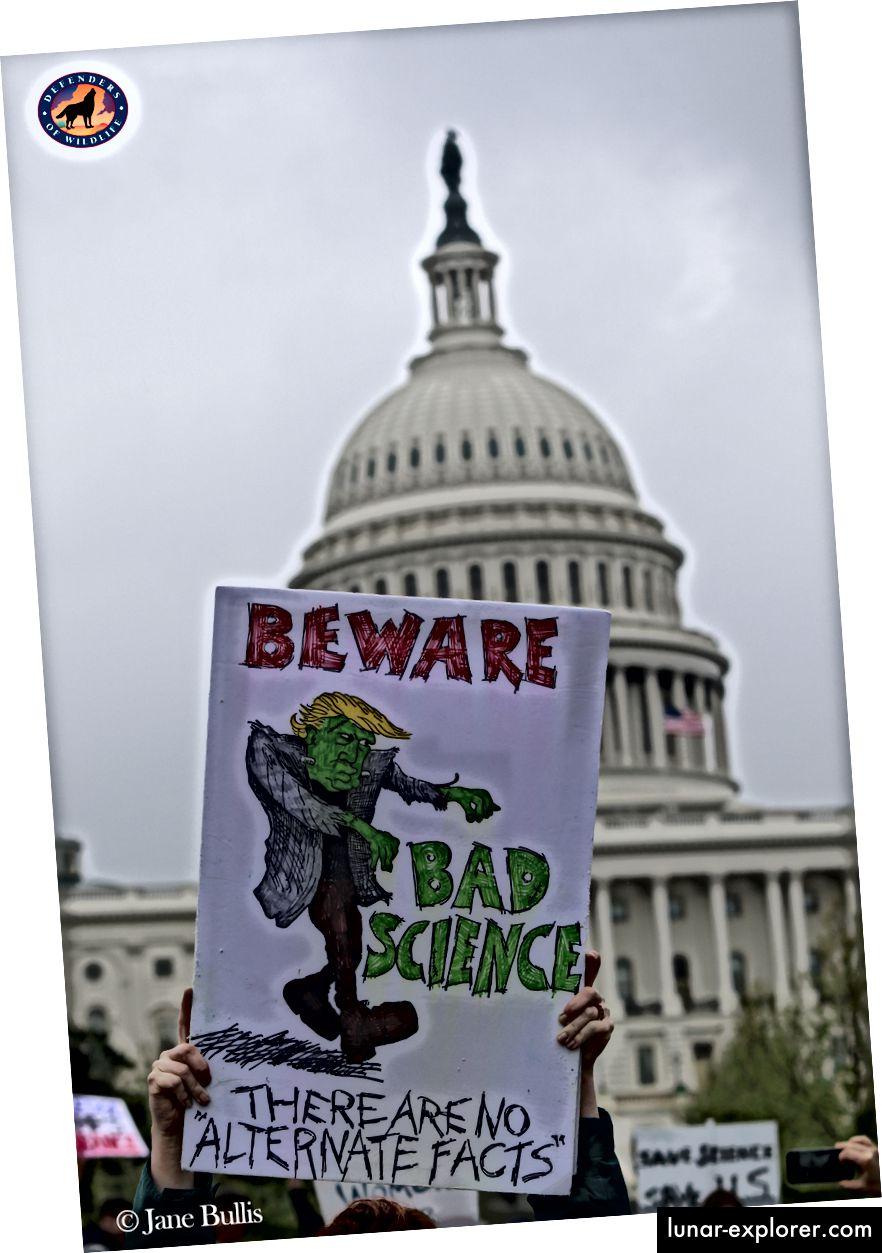 Ein Plakat am März 2017 für Wissenschaft in Washington, D.C.