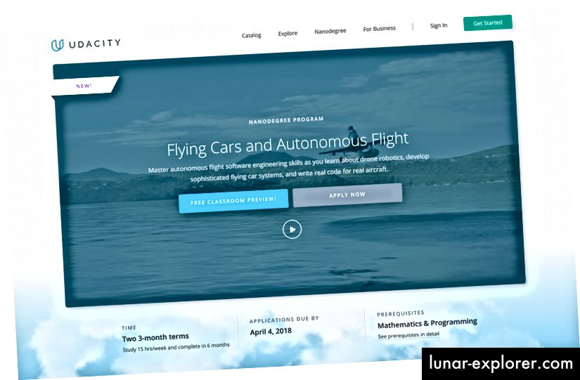 Udacity Flying Car Online-Bildungsprogramm