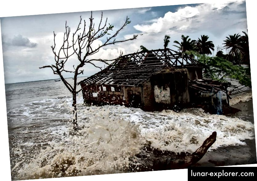 Mousuni, otok kompleksa delte Sundarbana u Bengalskom zaljevu, tone zbog nekoliko drugih sličnih otoka regije Sundarbanski delti zbog klimatskih promjena i plimnih poplava. (SUSHAVAN NANDY / BARCROFT IMAGES / BARCROFT MEDIA)