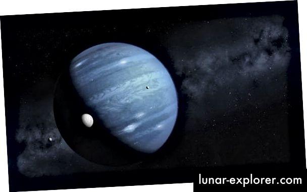 Eine künstlerische Darstellung von Planet 9 als Eisriese.