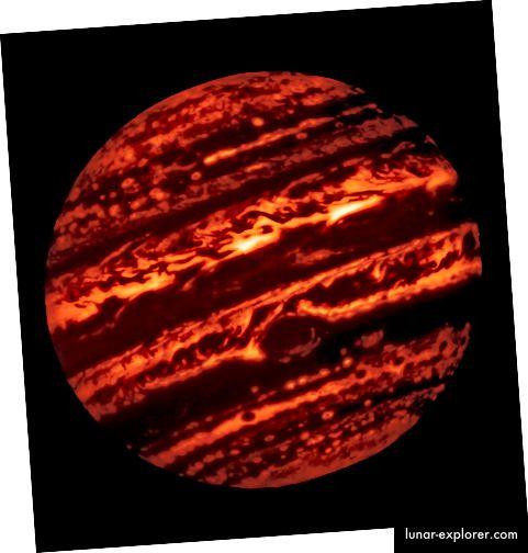 Jupiter im Infrarotlicht, vom Gemini Observatory.