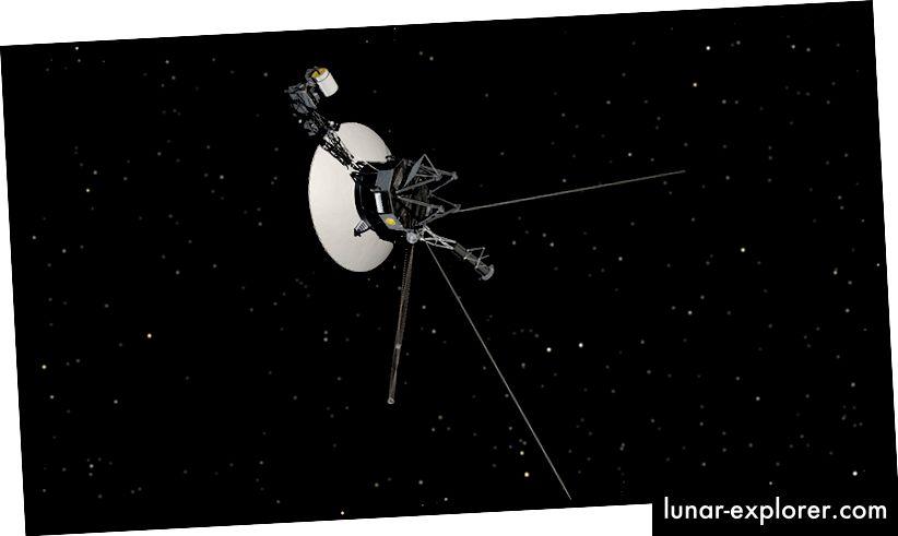 Kesan artis tentang Voyager 1 (NASA)