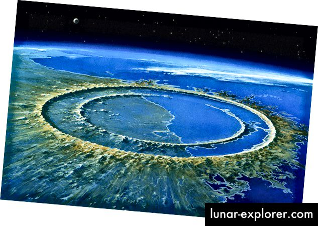 Kawah Meteor berdiameter 180 km di Yucat