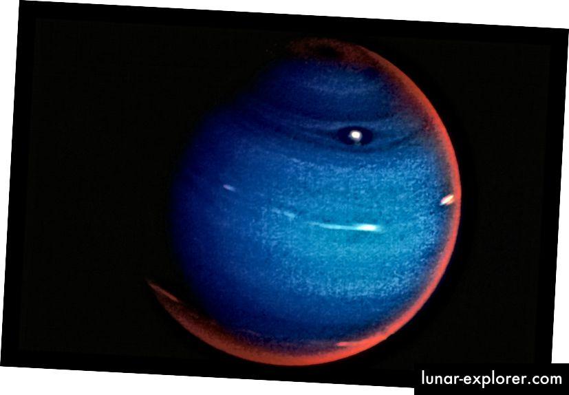 Immagine a colori del pianeta Nettuno presa da fr. Veicolo spaziale Voyager 2. Foto: Time Life Pictures / JPL / NASA / The LIFE Picture Collection / Getty Images