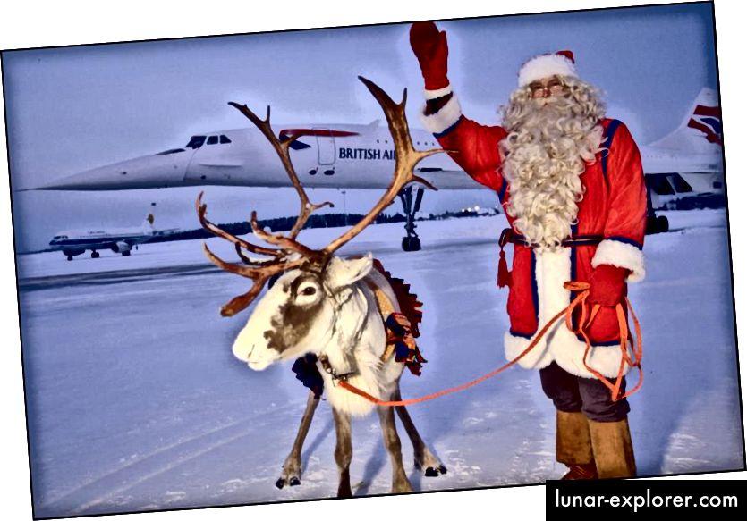 Walaupun merupakan tradisi Finlandia untuk mengunjungi Santa (dan mungkin beberapa rusa) naik Concorde, penerbangannya yang sebenarnya pada malam Natal memerlukan banyak pekerjaan dan banyak persiapan. Sejauh pengetahuan kami tentang sains Santa, inilah cara dia melakukannya. (ERIC CHRETIEN / GAMMA-RAPHO VIA GETTY GAMBAR)