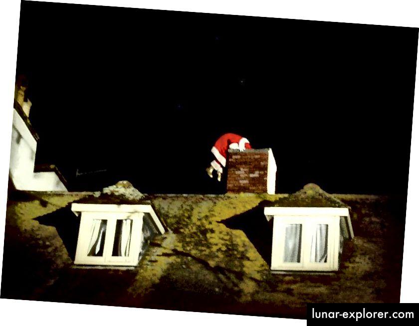 Banyak penggambaran populer Santa tidak melibatkannya mengikuti jalur optimal sebagaimana ditentukan oleh sains, tetapi itu seharusnya tidak menuntun kita untuk menyimpulkan bahwa Santa tidak dapat menyelesaikan pekerjaan. Faktanya, ilmu pengetahuan memberi tahu kita bagaimana dia mewujudkannya! (PENGGUNA FLICKR LETS GO OUT BOURNEMOUTH AND POOLE)