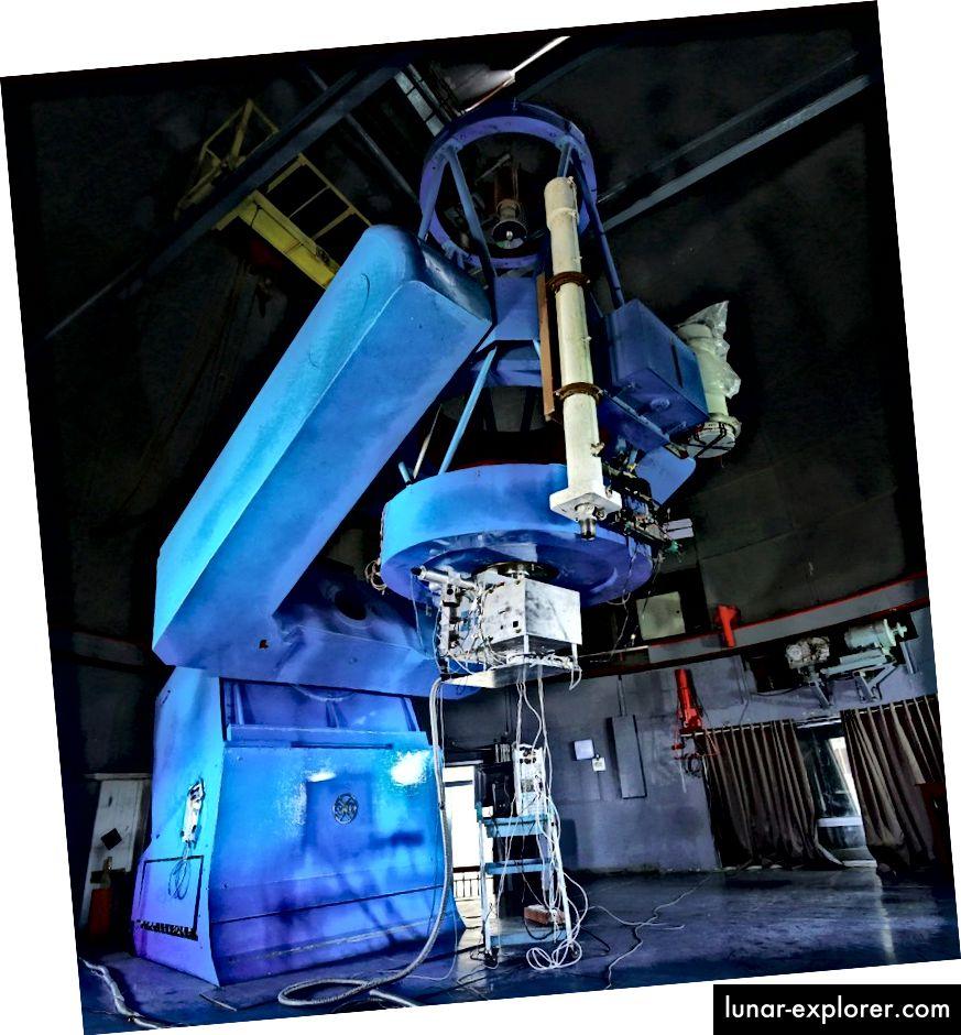 Lo spettrografo PARAS all'Osservatorio del Monte Abu. Credito: PRL