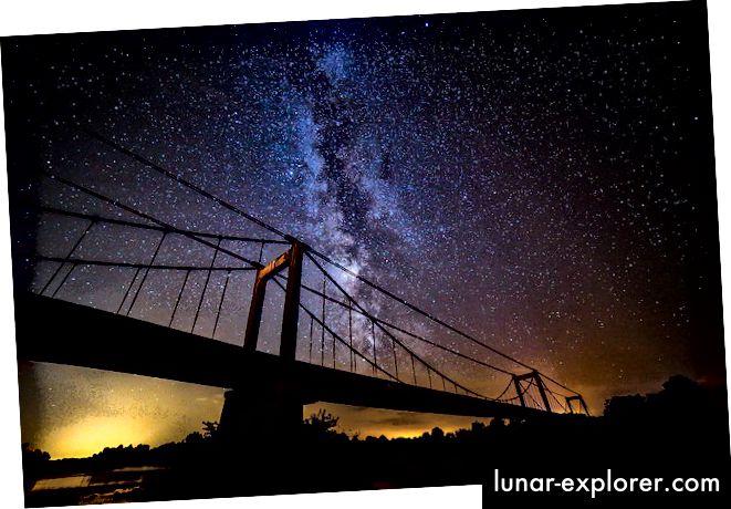 Ovako smo navikli vidjeti galaksiju Mliječni put - sa Zemlje. Kreditna slika: bromatofiel / Flickr