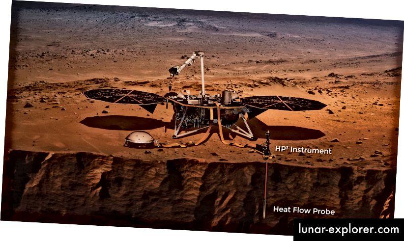 HP³ akan menelusuri permukaan Mars untuk menentukan bagaimana panas mengalir melalui planet (NASA)