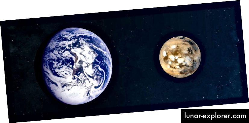 Apakah terikat oleh gravitasi, elektromagnetisme, atau gaya lain apa pun, ukuran benda-benda yang stabil dan disatukan tidak akan berubah bahkan saat Alam Semesta mengembang. Jika Anda dapat mengatasi ekspansi kosmik, Anda akan tetap terikat selamanya. (NASA, BUMI DAN MARS KE SKALA)