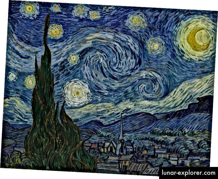 The Starry Night oleh Vincent Van Gogh, 1889.