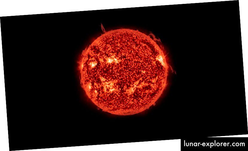 Ein Bild der Sonne, aufgenommen von der NASA.