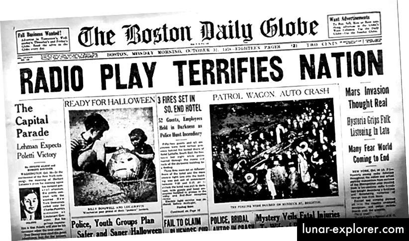 Orson Welles 'Hörspiel von 1938 löste landesweit Panik aus
