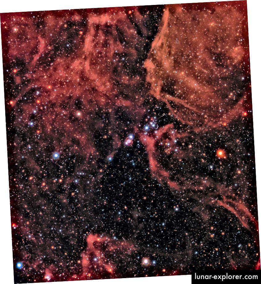 Gambar bidang luas Nebula Tarantula, yang diambil oleh Hubble, menampilkan sisa-sisa supernova 1987a di dekatnya dan sekitarnya. Sementara dataset gabungan kami dari 30+ tahun terakhir telah memberi kami ratusan supernova hingga miliaran tahun cahaya, WFIRST akan membawa kami ribuan supernova ke jarak yang belum pernah dicapai oleh observatorium kami hari ini. Tidak ada pengganti untuk ilmu yang bisa dicapai. (NASA, ESA, DAN R. KIRSHNER (PUSAT HARVARD-SMITHSONIAN UNTUK ASTROPHISIKA DAN GORDON DAN BETTY MOORE FOUNDATION) DAN P. CHALLIS (PUSAT HARVARD-SMITHSONIAN UNTUK ASTROPHYSICS)
