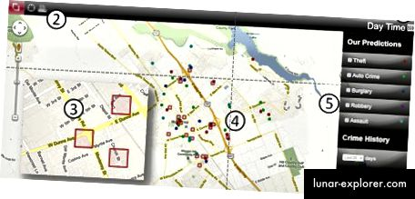 Mapa kriminala PredPol (kreditna fotografija)