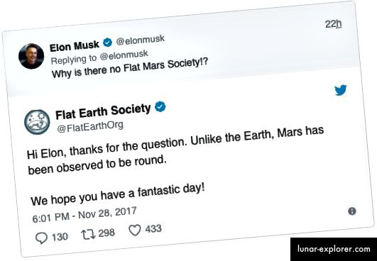 Elon Musk v / s Flat Earth Society