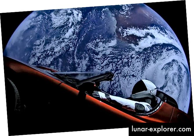 SpaceX Starman e Tesla Roadster sono stati lanciati nello spazio a febbraio 2018