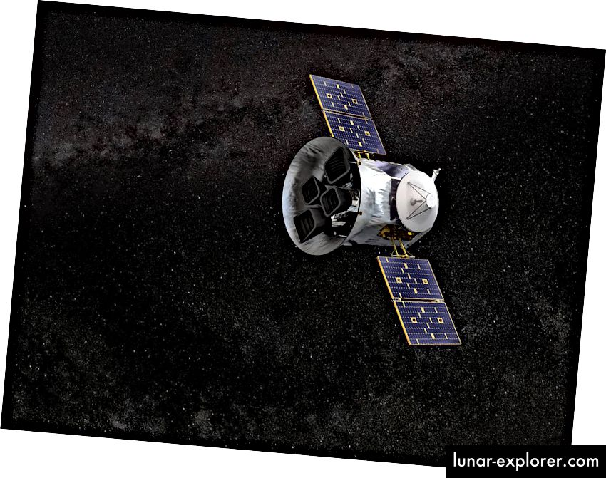 An Artist Impression of TESS in Space (Crediti: NASA)