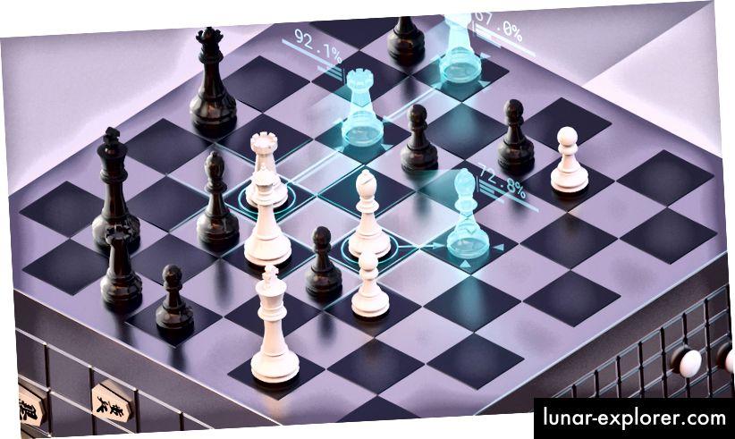 Изобразяване на AlphaZero AI, любезно предоставено от DeepMind