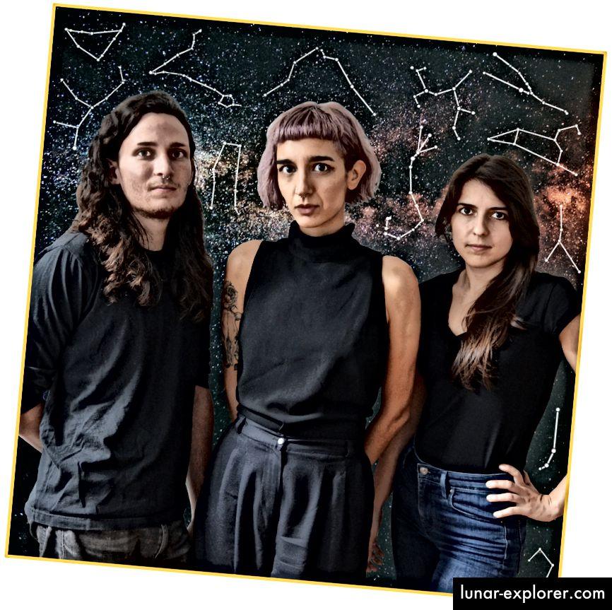 Fondateurs Fashionista de Co-Star: Ben Weitzman, Banu Guler, Anna Kopp; tous trois travaillaient chez VFiles, un site de média social / mode basé à New York.