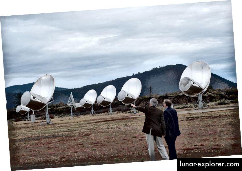 Allen teleskopski niz potencijalno je sposoban otkriti snažni radio signal iz Proxima b ili bilo kojeg drugog zvjezdanog sustava s dovoljno jakim radio prijenosima. Uspješno je surađivao s drugim radioteleskopima na izuzetno dugim osnovnim vrijednostima na rješavanju horizonta crne rupe događaja: vjerojatno i svoje krunsko postignuće. (WIKIMEDIA COMMONS / COLBY GUTIERREZ-KRAYBILL)