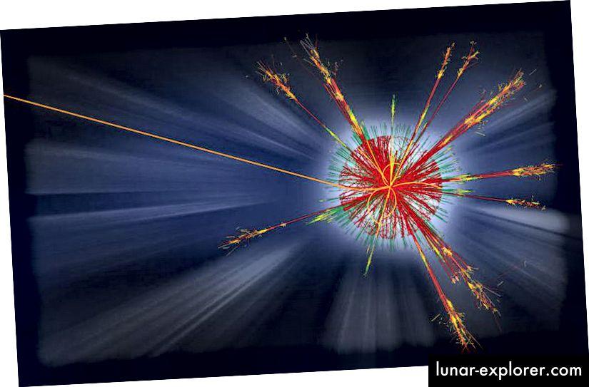 Bilo je ogromno mnoštvo potencijalnih novih potpisa fizike koje fizičari traže na LHC-u, od dodatnih dimenzija do tamne materije do supersimetričnih čestica do mikro crnih rupa. Unatoč svim podacima koje smo prikupili od ovih visokoenergetskih sudara, nijedan od ovih scenarija nije pokazao dokaze koji potvrđuju njihovo postojanje. (CERN / ATLAS EXPERIMENT)