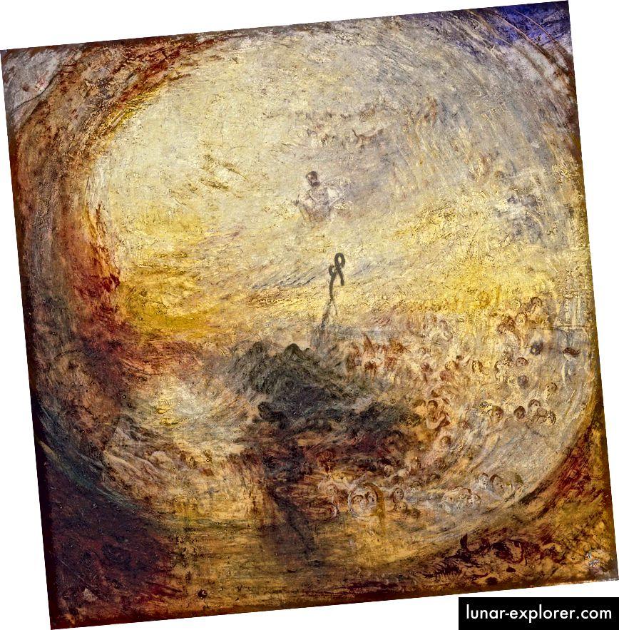 JMW Търнър: Светлина и цвят (теорията на Гьоте) - Утрото след потопа - Мойсей пише Книгата на Битие. Образът е предоставен от проекта Alion.