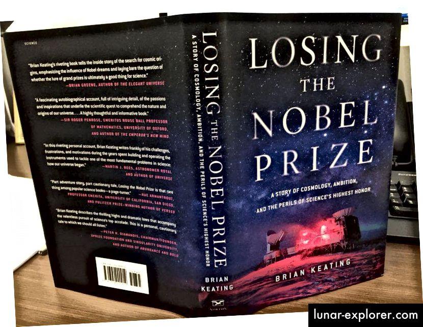 """Brian Keating """"A Nobel-díj elvesztése"""" című új könyve beszámol a törekvésről, a veszteségről és arról, hogy milyen veszélyekkel jár a Nobel-díj elnyerésének dicső célja. (BRIAN KEATING / TWITTER)"""