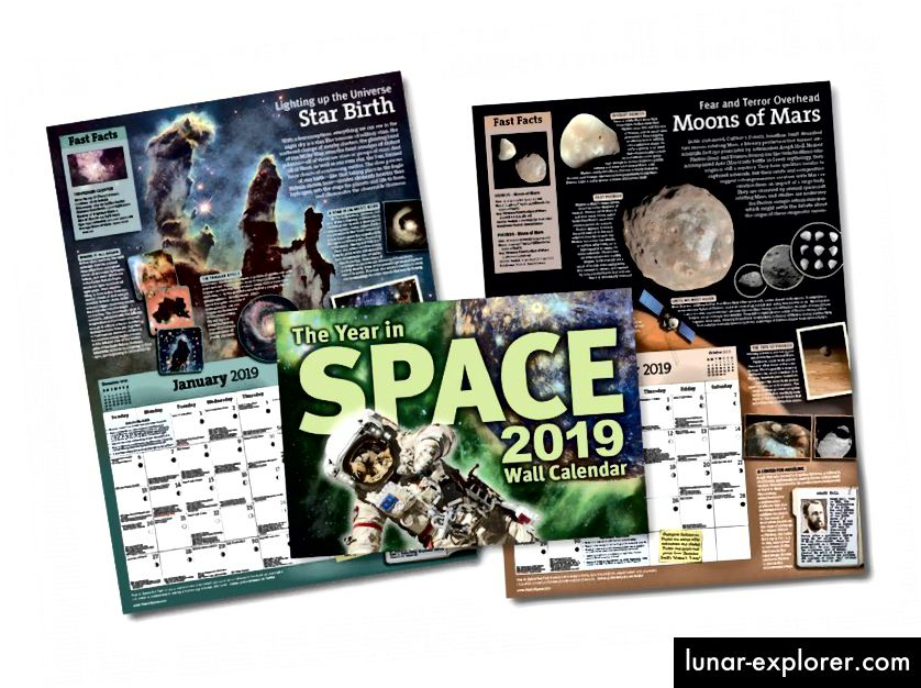 Volite li velike, lijepe svemirske slike, puno informacija o astronomiji, svemiru, noćnom nebu i povijesti znanosti? Ovaj kalendar prikazuje sve, na mjesečnoj osnovi, na način koji bi vas mogao zakačiti. (GODINA U PROSTORNOM KALENDARU / STEVE CARIDDI)