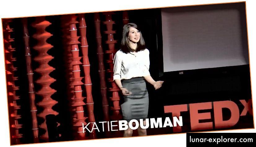 Katie Bouman explique comment prendre une photo d'un trou noir lors d'une conférence TEDx 2017.