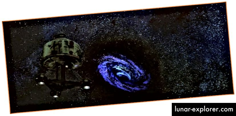 """Голямата черна дупка в """"Черната дупка"""" (1979) на Дисни."""