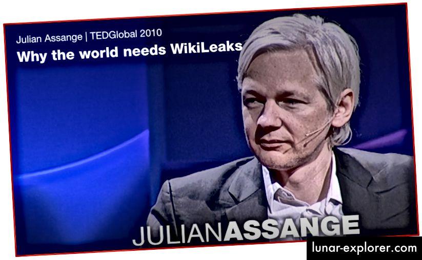 Джулиан Асанж по време на интервю в TEDGlobal, където той обясни причините за съществуването на WikiLeaks.