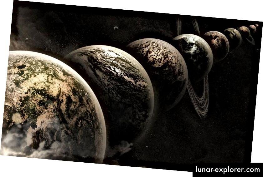 L'idea del multiverso afferma che esiste un numero arbitrariamente elevato di universi come il nostro, ma ciò non significa necessariamente che ci sia un'altra versione di noi là fuori, e certamente non significa che ci sia alcuna possibilità di imbattersi in una versione alternativa di te stesso ... o qualsiasi altra cosa proveniente da un altro universo. LEE DAVY / FLICKR