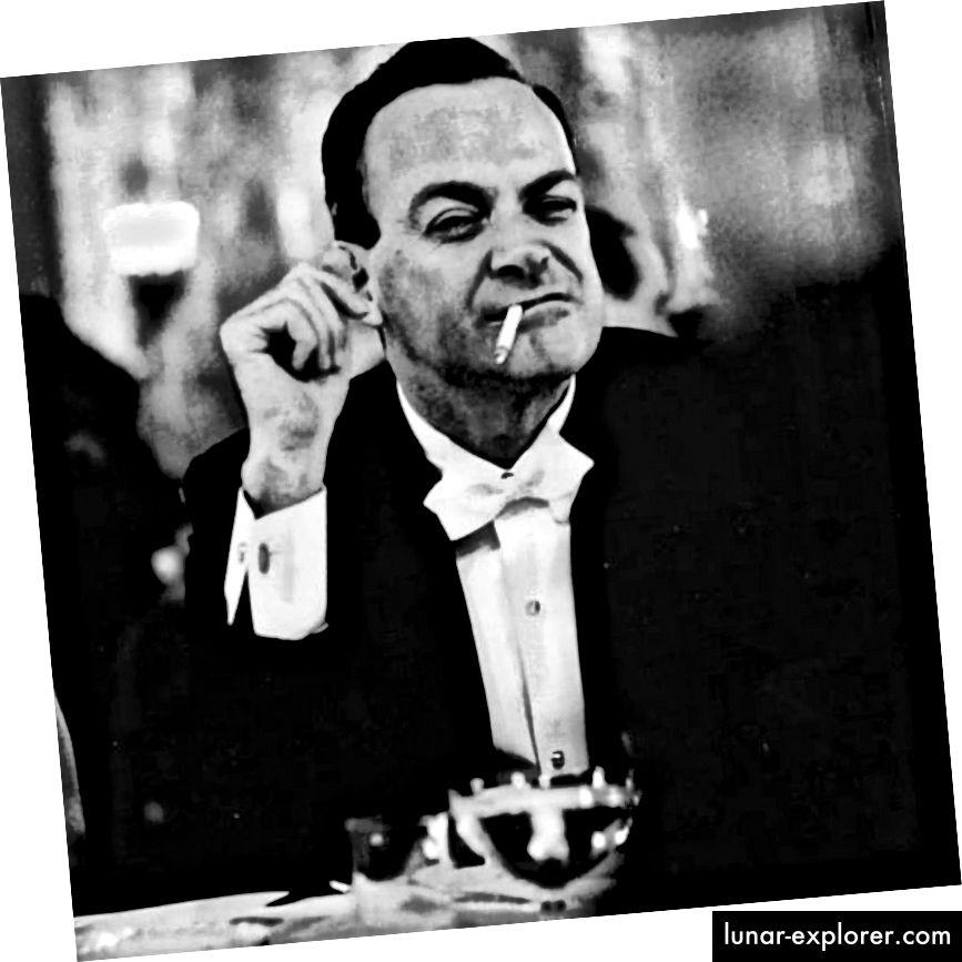 ريتشارد فاينمان ، ربما يدخن لأنه كان يحاول التغلب على ميكانيكا الكم.