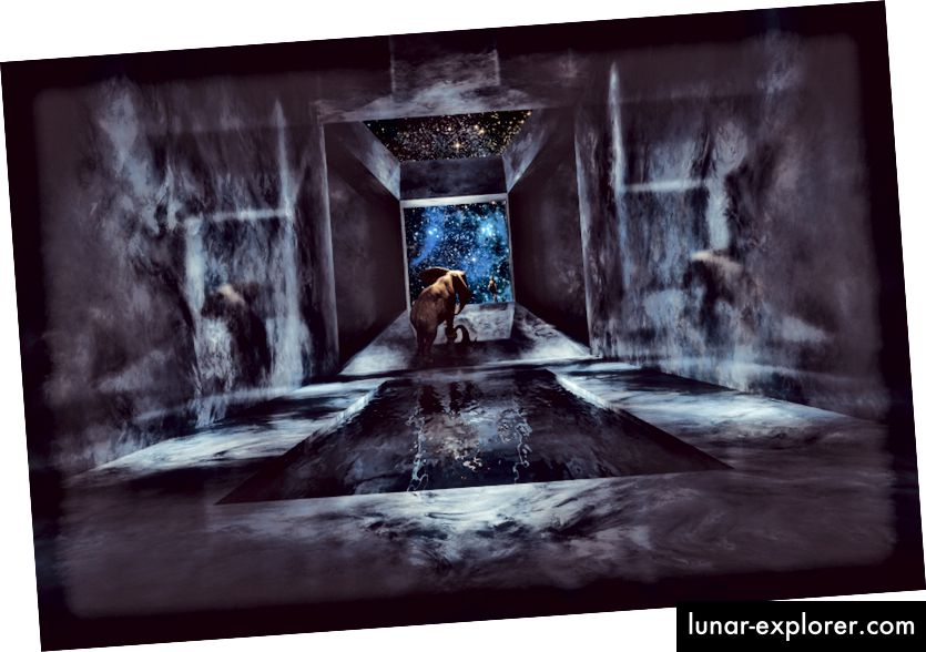 """""""Фантастичен слон ходещ в космически кораб"""" от MATJAZ SLANIC"""