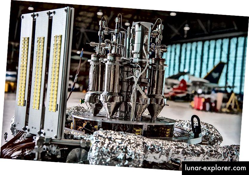 Űrreaktor prototípusa a NASA Kilopower programjának részeként. Forrás: NASA