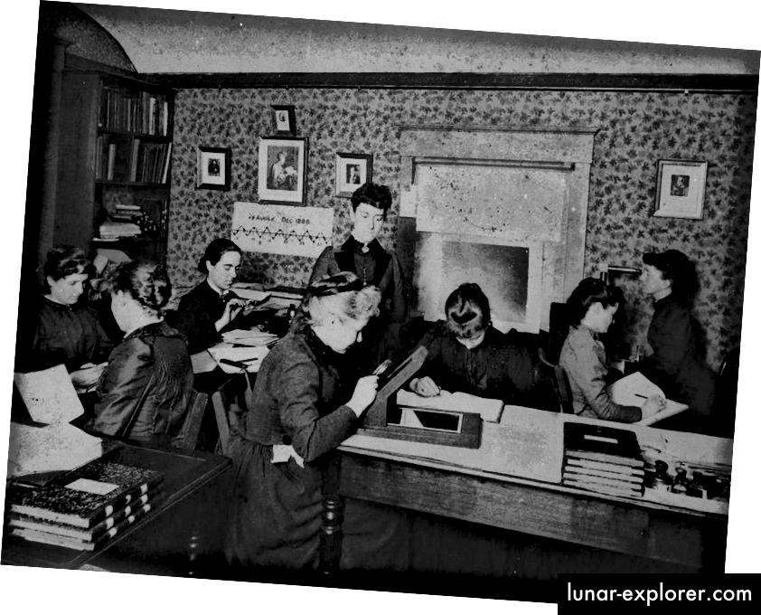 Oltre un secolo fa, le donne hanno subito un trattamento molto diverso rispetto agli uomini nei circoli accademici e nelle istituzioni. Qui nel 2018, il campo di gioco è ancora lontano dal livello, anche se i motivi sono molto più insidiosi di quelli palesi in questi giorni. (HARVARD COLLEGE OBSERVATORY, CIRCA 1890)