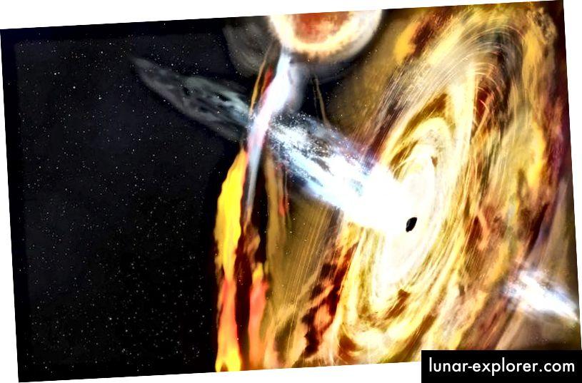 Crna rupa zvana MAXI J1820 + 070 ispuštala je ogroman bljesak rendgenske svjetlosti koji su astronomi pratili s vremenom kako bi istražili kako crne rupe gutaju i izlijevaju tvar. Foto: NASA-in Goddard Centar za svemirske letove