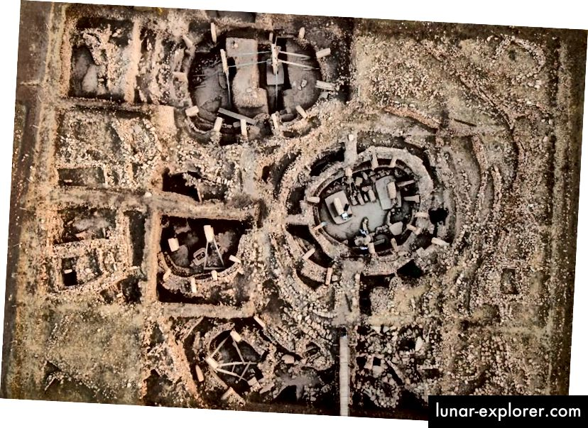 Vista aerea di Gobekli Tepe