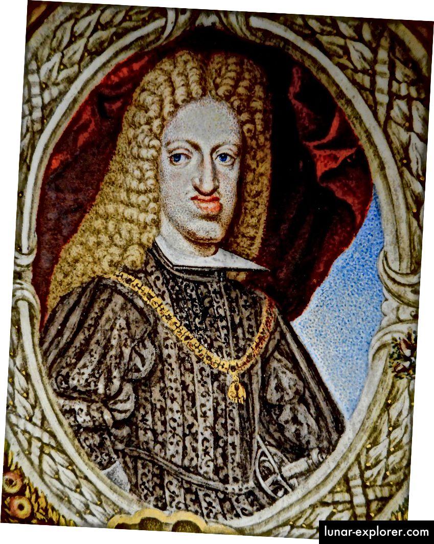 ملك هابسبورغ تشارلز الثاني ملك إسبانيا. كان والده عم والدته ، وجعل تشارلز ابنهما وابن أخيه وابن عمه الأول على التوالي.