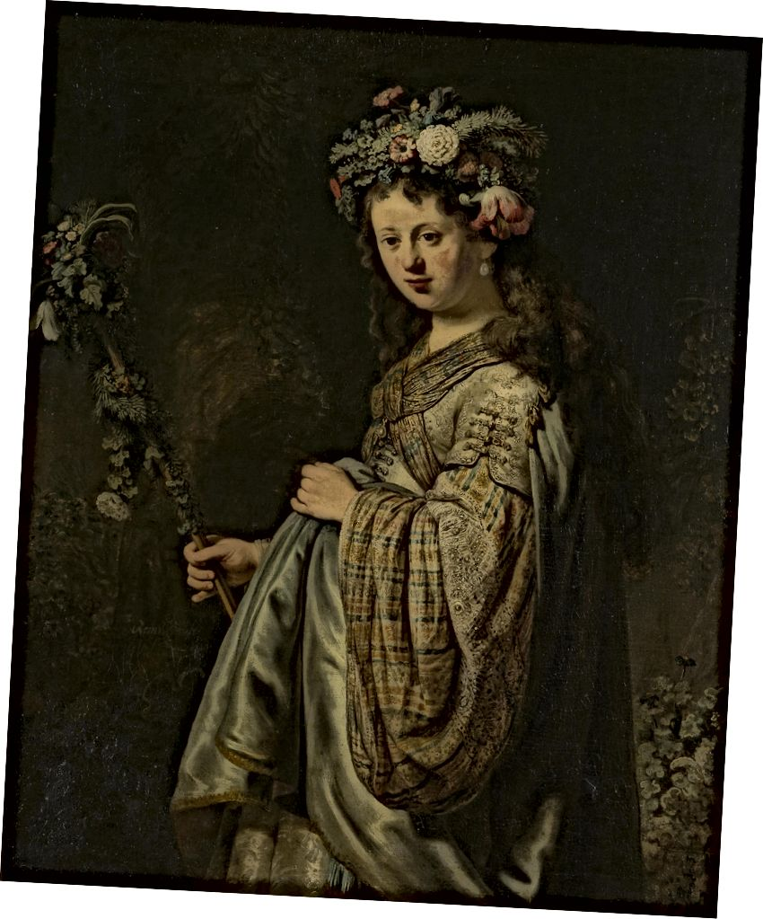 Flora, 1634, Öl auf Leinwand, 125 x 101 cm, Eremitage, St. Petersburg
