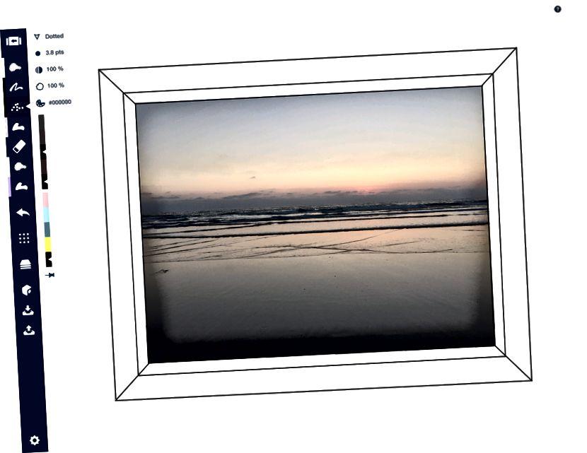 Плоскостта на картината. (Не искаш ли да си тук на Imperial Beach?)