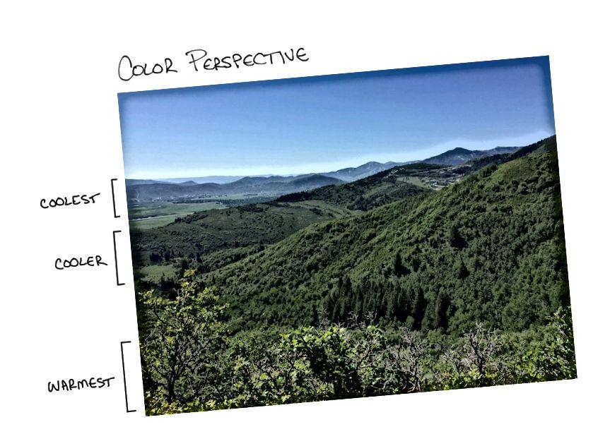 Perspektif warna di Summit Park, Utah.